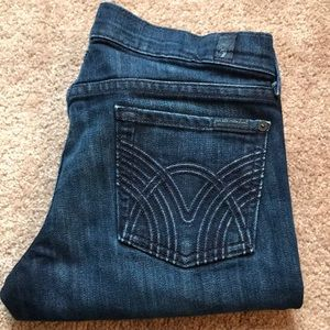 7 For All Mankind Size 26 straight leg flood EUC